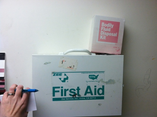 First Aid Kit and Bodily Disposal Kit
